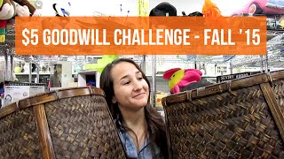 $5 Goodwill Challenge - Fall 2015 Invite