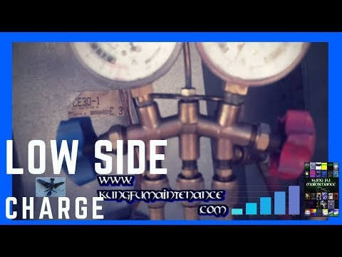 How to Charge An Air Conditioner That Is Low On Freon Through The Suction Side Real Time