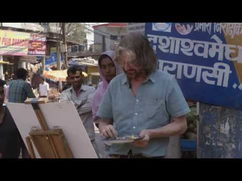 Ken Howard RA, Pete Brown NEAC and Patrick Cullen NEAC. 'Painting Varanasi` trailer