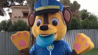 Paw patrol español: Chase! juegos en el parque con cachorro patrulla canina.Fun day at playground