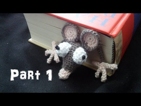Learn how to crochet an Amigurumi Rat Bookmark Part 1