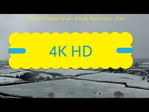 4K - HD - Norddeutschland - Wetter heute - Es schneit - footage video doku drohne 17.01.2018