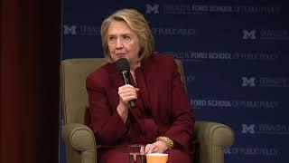 Hillary Clinton visits Ann Arbor