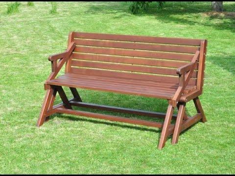 Своими руками скамейка стол трансформер
