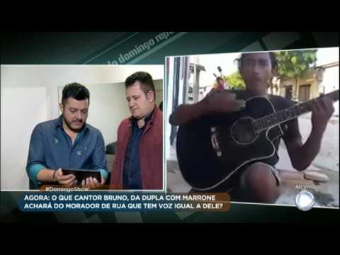 Bruno e Marrone mandam mensagem emocionante ao morador de rua cantor