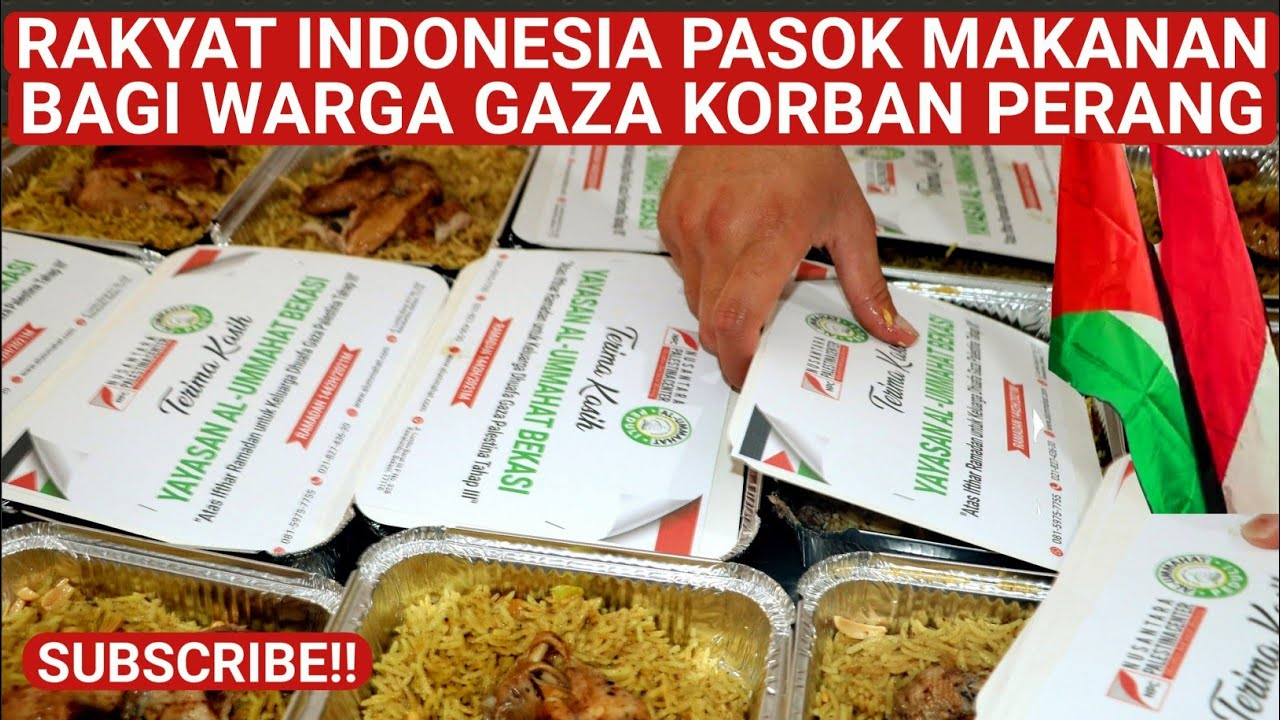 AKHIR RAMADHAN RAKYAT INDONESIA PASOK MAKANAN UNTUK WARGA