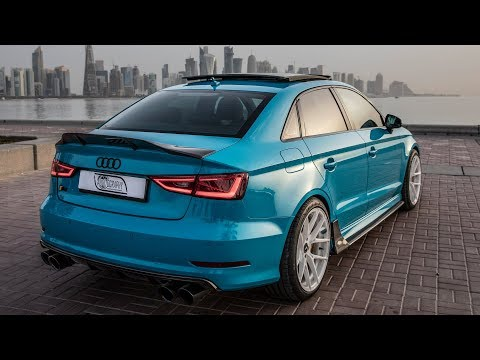 The AUDI S3 FROM HELL! A 400hp++ Stage2+ APR gorgeous Miami blue sedan