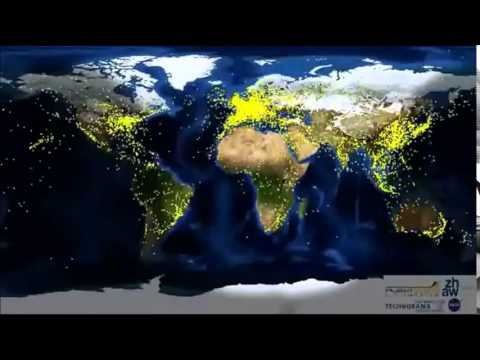 24 Hour World Air Traffic