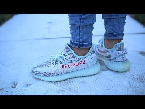 Adidas Yeezy Boost 350 V2 Blue Tint On
