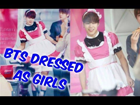 BTS Dressed as Girls Compilation