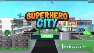 Roblox: Superhero city/Super pow train 2