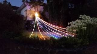 shooting star christmas lights