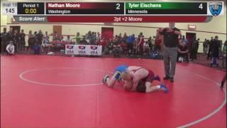 Men 145 Nathan Moore Washington vs Tyler Eischens Minnesota 4758682104