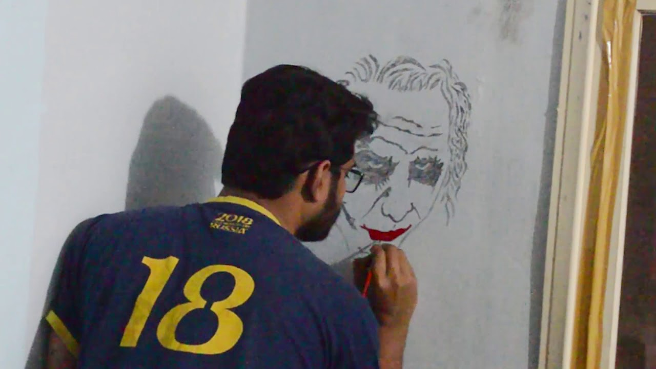 Drawing Joker Wall Paint