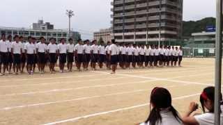 2012.9.20 広島皆実高校体育科による集団行動