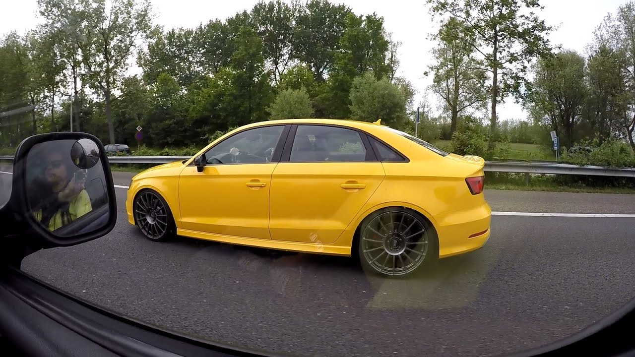 Yellow Audi S3 Sedan Spotted On The Highway Youtube