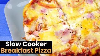 Cheesy Slow Cooker Breakfast Pizza