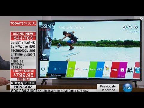 "LG 55"" Smart 4K Ultra HDTV w/Active HDRTech Support"