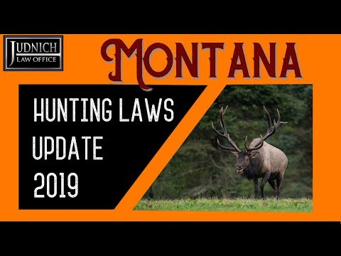 2019 Montana Hunting Laws Update | Judnich Law