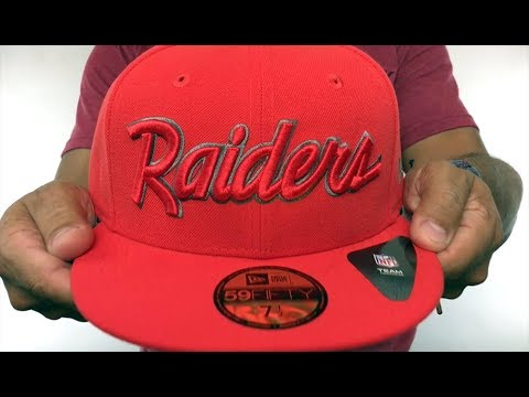 f4784035a65f78 Raiders 'NFL TEAM-SCRIPT' Fire Red-Fire Red Fitted Hat by New Era ...