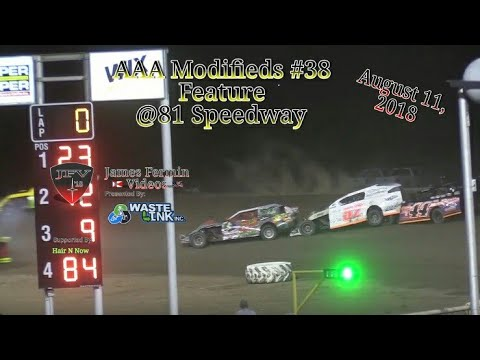 AAA Modifieds #38, Feature, 81 Speedway, 08/11/18