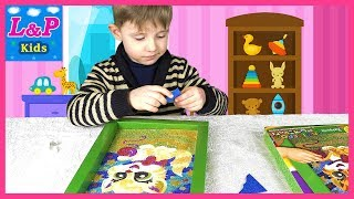 Learn colors with the glitter coloring | Кids video