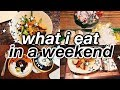 what i eat in a weekend as a teen (realistic)