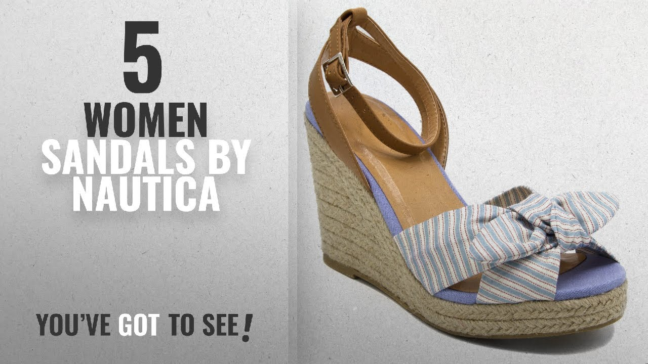 3853fe65cb03e Top 5 Nautica Women Sandals [2018]: Nautica Women's curia Espadrille Wedge  Sandals With Stripe