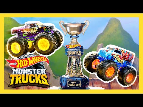 BIG AIR SLIME PIT! Ultimate Slime Pit Tournament! | Monster Trucks | Hot Wheels
