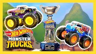 BIG AIR SLIME PIT! Ultimate Slime Pit Tournament!   Monster Trucks   @Hot Wheels