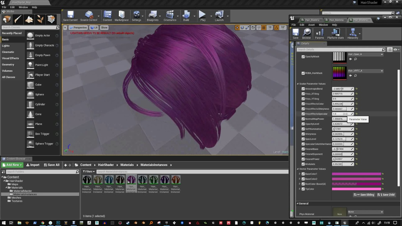 Hair Material Shader - UE4