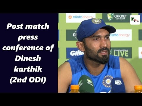 Watch: Dinesh Karthik's post second ODI press conference | Australia vs India