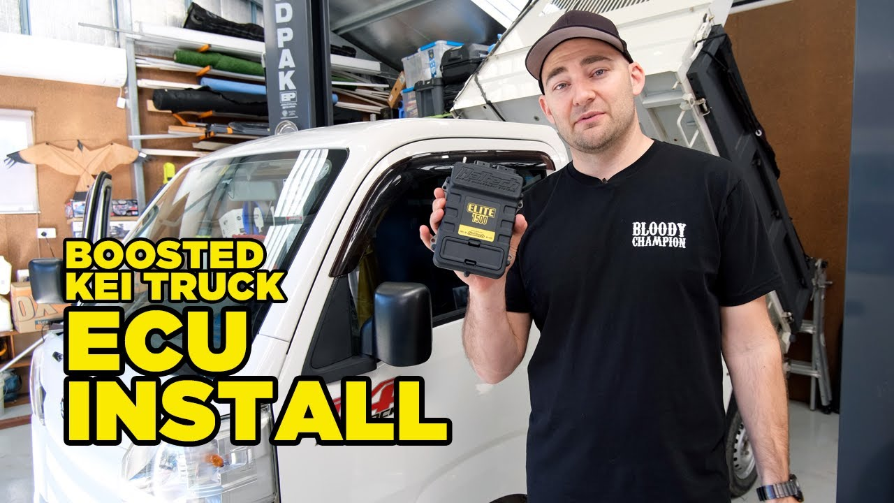Boosted Kei Truck gets an ECU install