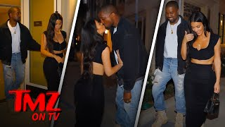 Kim and Kanye Pack On The PDA | TMZ TV