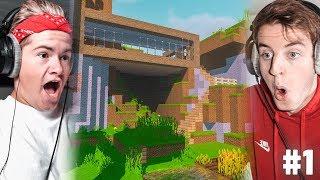 Rik en Jesper bouwen VILLA in Minecraft!