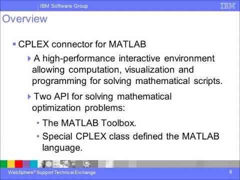 Using CPLEX Optimization Studio with MathWorks MATLAB - IBM