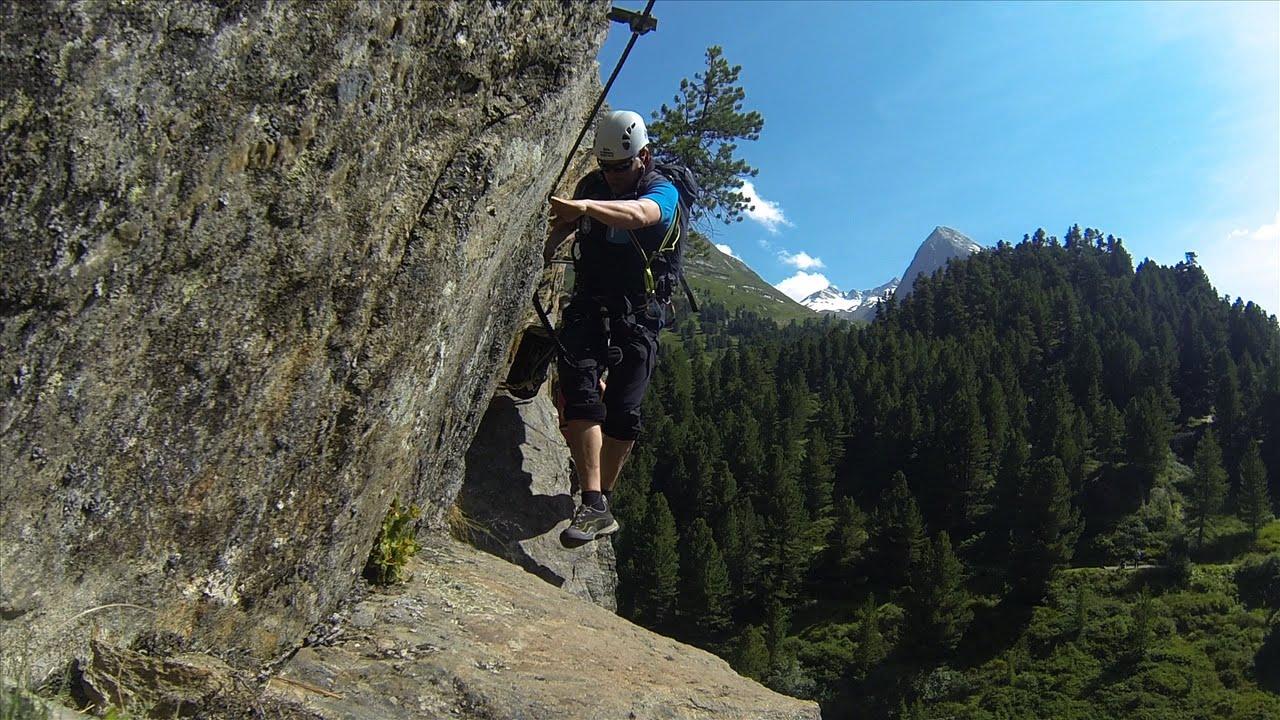 Klettersteig Obergurgl : Klettersteig zirbenwald in obergurgl youtube