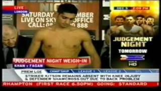 Live Weigh-in: Amir Khan/Oisin Fagan