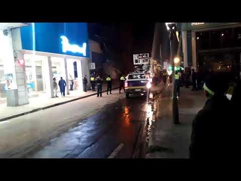Tucumán - Alerta en el microcentro por el derrumbe de un edificio