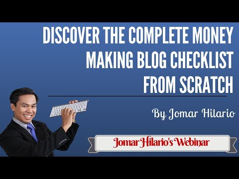 Discover The Complete Money Making Blog Checklist From Scratch