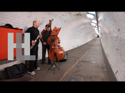 Greenwich foot tunnel - music under the Thames, London