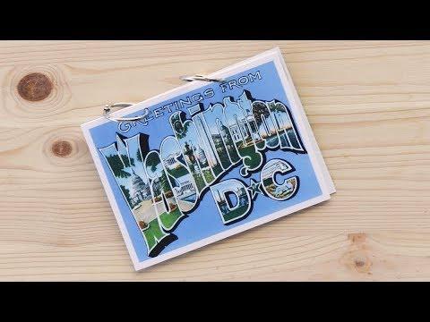 DIY Travel Gift Ideas: Postcard Photo Album
