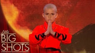 Shaolin Kung Fu Warrior stuns the audience | Little Big Shots