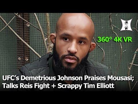 (360° VR / 4K) UFC's Demetrious Johnson Says Mousasi Is Future Champ; Talks Reis Fight + Tim Elliott