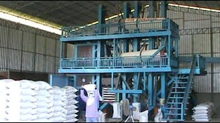 Commercial size rice mill in rural Thailand