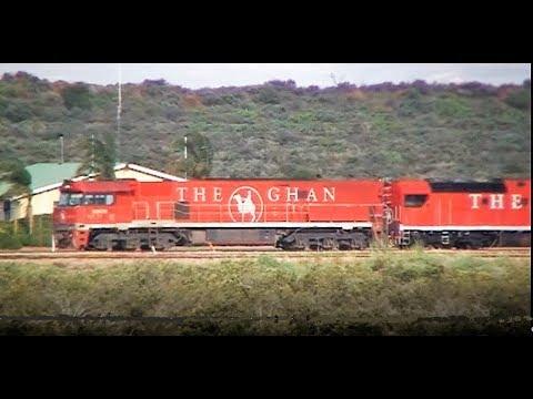 Trains through Port Augusta South Australia 2010