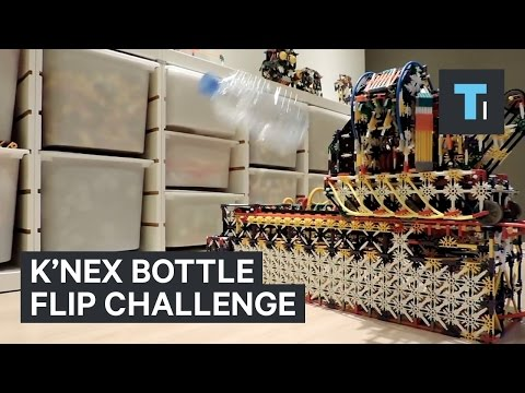 This K'NEX​ machine perfected the bottle flip challenge