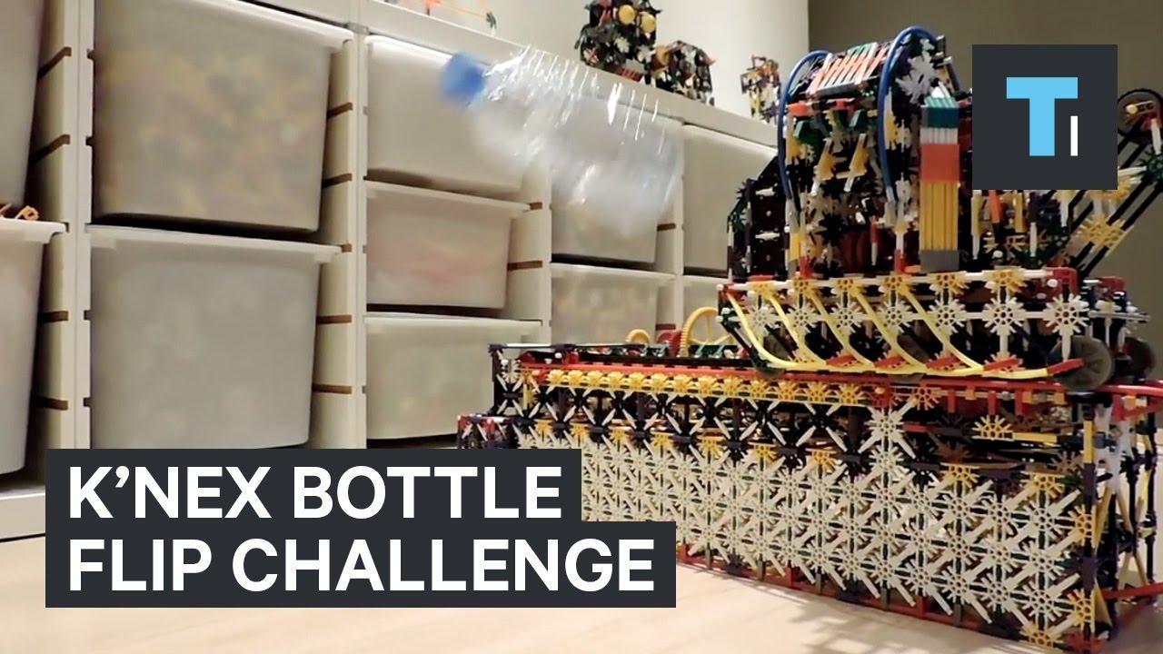 This K Nex Machine Perfected The Bottle Flip Challenge