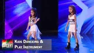 Kids dancing and playing instrument || Myanmar's Got Talent Season 3
