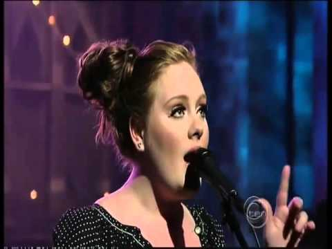 Adele Chasing Pavements Live Debut on The Late Show with David Letterman ,#Adele